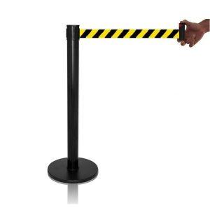 Pedestal retrátil zebrado